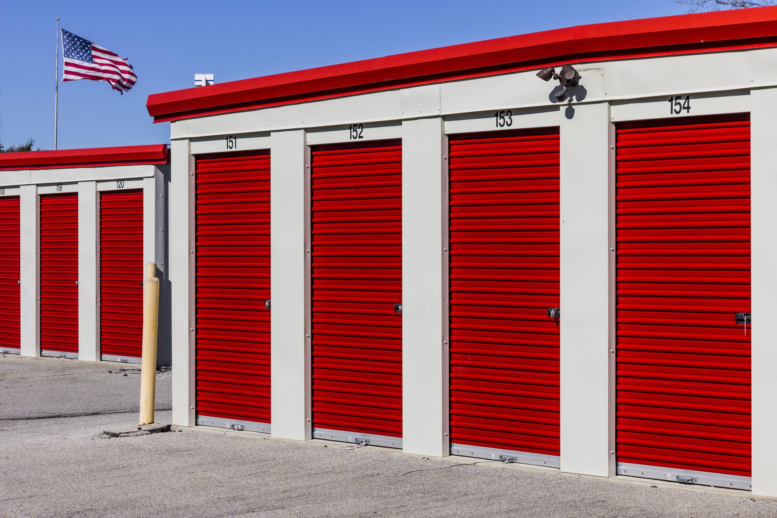 how to open a storage unit door